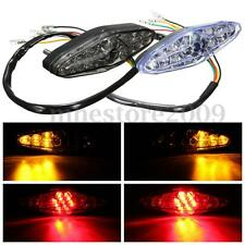 Motorcycle 15 LED Rear Brake Tail Stop Running Turn Signal Light For Bobber Cafe