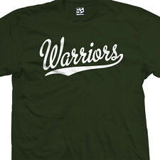 Warriors Script & Tail T-Shirt - Baseball Basketball Sports - All Sizes & Colors
