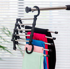 5-in-1 Magic Closet Hanger for Pants Skirts Closet Organizer