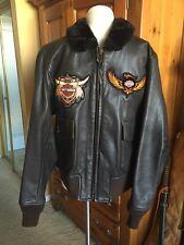 G-1 Cooper  Leather Flight Jacket USCG USMC Marines USN 44 Large Harley Davidson