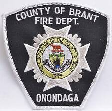 Embroidered Shoulder Patch Ontario Canada Brant County Onondaga Fire Department