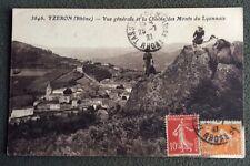 CPSM. YZERON. 69 - Vue Générale et la Chaîne des Monts du Lyonnais. 1921.