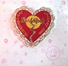 Hard Rock Cafe CALGARY Canada 2000 VALENTINE'S DAY Heart PINS on Card HRC #1545