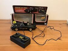New Bright Vintage RC Car - Turbo Porsche -Black W/ Gold Trim- 1982 WORKS CORDED