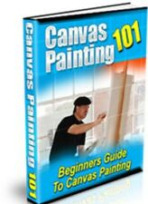 Canvas Painting learn to paint like a pro eBook on Cd Oils Versus Acrylics