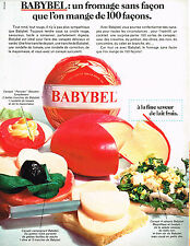 PUBLICITE ADVERTISING 045  1969  BABYBEL  fromage