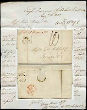 GB 1823 LETTER to J.BIBBY from EAGLE FURNACES BIRMINGHAM PP + MILEAGE in RED