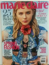 Marie Claire February 2016 Chloe Grace Moretz 25 Beauty Products  FREE SHIPPING