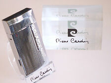 Pierre Cardin Paris Silver Chrome Lighter With Cigar Cutter New Luxury Boxed