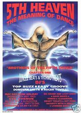 THE MEANING OF DANCE Rave Flyer Flyers 4/5/92 A5 5th Avenue Gloucester