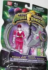 """Mighty Morphin Power Rangers Pink 4"""" with Light up Dino Fly 2010 New TRANSPARENT"""