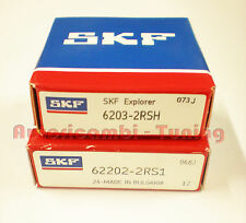 KIT CUSCINETTI ALTERNATORE FIAT 500 126 SKF ORIGINALI  6203/2rs + 62202/2rs