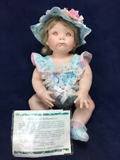 "HEAVY 22"" PORCELAIN BREATHER DOLL ""TRICIA"" By Artist Cindy Rolfe Ltd Ed 210/2000"