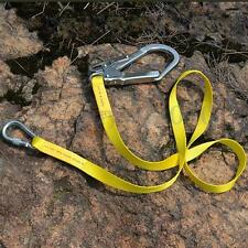 Rock Tree Climbing Fall Arrest Protection Harness Belt Safety Strap Carabiner