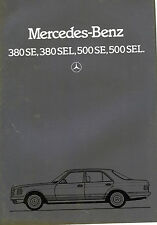1984 Mercedes 380SE/380SEL/500 SE/500 SEL Sales Catalog / In German