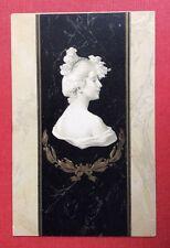 CPA. Illustrateur. 1901. Buste Femme. Style Kirchner. Art Nouveau. Marbre. 2