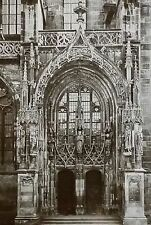 Portal, Church of St. Theobold, Thann, France,Magic Lantern Glass Slide