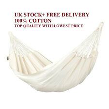 SALE 100%Cotton Classic Hammock Camping Bed Linen Outdoor Portable Garden Swing