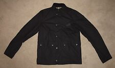 Barbour INTERNATIONAL OUSTON Waxed Jacket in Black - Medium [1657] NWOT