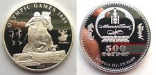 2006 Mongolia Large Silver Proof 500 T Olympic Equestrian