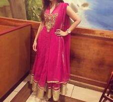 Pink Anarkali Gown Suit Indian Party Wear