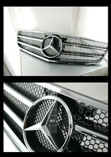 08-10 MERCEDES W204 SPORTS GRILLE C300 C280 C200 C350 BLACK FRONT AMG MESH STYLE