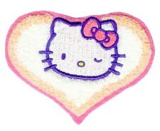 "(A27D) HELLO KITTY winking Chenille sew / iron on patch 3.5"" x 2.5"" applique"