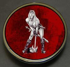 Warrior Girl Custom Gas Cap Cover Fits Harley Davidson Road King V Twins
