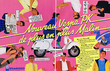 PUBLICITE ADVERTISING 054 1983 PIAGGO nouveau vespa PK (2 pages)