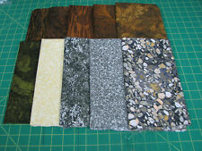 10 Fat Quarter Quilt Fabric Lot - AE Nathan Elements Brown Gray - Earth/Rocks
