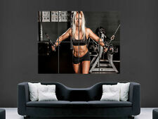Fille sexy hot Weightlifting Gym Fitness art mural large image poster géant