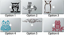 Owl Sitting Decal Skin Sticker Apple Mac Book Air/Pro Dell Laptop Cute Car Truck