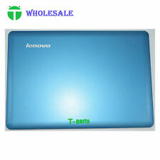 New Top LCD Rear Lid Back Cover Case for Lenovo IdeaPad U410 Blue Non Touch