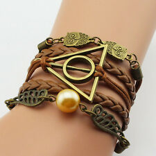 Bracelet Owl Harry Potter wings infinity Friendship Multilayer Braided Bracelet
