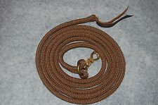 14' BROWN TRAINING YACHT ROPE LEAD WITH LOOP & TWIST SNAP, FITS  PARELLI METHOD
