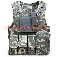 USMC Military SWAT Airsoft Adjustable MOLLE Vest Combat Tactical Chest Rig