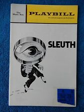 Sleuth - Music Box Theatre Playbill w/Ticket - June 29th, 1971 - Quayle - Baxter