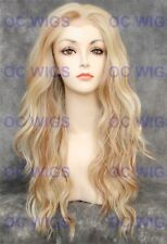 Light Blonde Mix Long Lace Front Heat OK Synthetic Wig Yvonne in FS613/27