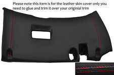 RED STITCH LOWER DASH PANEL TRIM LEATHER COVER FITS TOYOTA SUPRA MK4 93-02