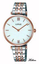 Lorus Reloj de señoras Vestido de estilo moderno Oro Rosa Reloj RRW88EX9. 2 año de garantía.
