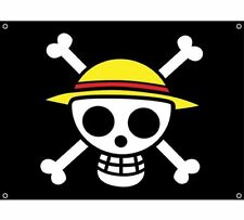 GE Animation Officially Licensed One Piece Luffy's Straw Hat Pirate Flag