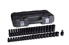 "Gearwrench 39 pc 1/2"" drive Master Metric Shallow+Deep Impact Socket Set #84948N"