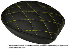 DIAMOND YELLOW ST CUSTOM FITS HARLEY SPORTSTER 883 48 72 REAR LTHR SEAT COVER