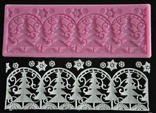 Christmas Trees with Snowflakes Silicone Mold for Fondant, Chocolate, Crafts