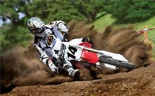 "MOTOCROSS DIRT BIKE JUMP SPORT PHOTO ART PRINT POSTER 40""x24"" 007"