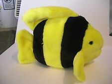 "TY Beanie Buddy   * BUBBLES yellow black clown fish  8"" tall & 10"" long *"