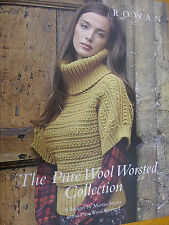 ROWAN  PURE WOOL WORSTED COLLECTION  KNITTING PATTERN BOOK 8 designs BY