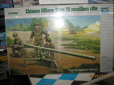Trumpeter Chinese 105MM Type 75-Recoilless Rifle-1/35 Scale-FREE SHIPPING