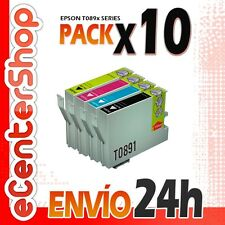 10 Cartuchos T0891 T0892 T0893 T0894 NON-OEM Epson Stylus SX218 24H