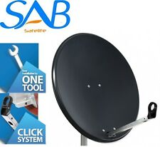 80CM Solid High Quality Satellite Dish & Pole Fittings Astra Hotbird Freesat Sky